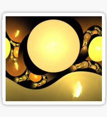 Gold Cave Spheres Sticker