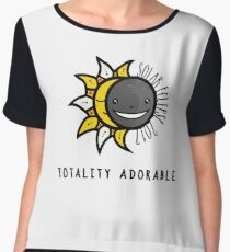 Solar Eclipse 2017 Shirt - Totality Adorable - August 21, 2017 - White Women's Chiffon Top