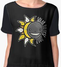 Solar Eclipse Shirt  - August 21, 2017 - Minimal Colors Black Women's Chiffon Top