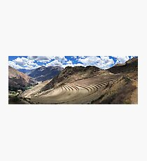Inca Terraces - Pisac, Peru Photographic Print