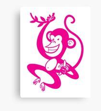 Pink Monkey Canvas Print