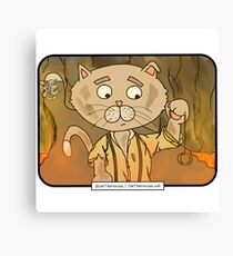Pawed of the Rings: The Return of the Kitty | @CatTheMovies Canvas Print