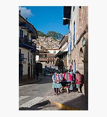 City streets - Cusco, Peru  Photographic Print