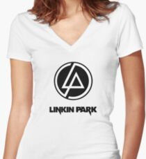 Linkin Park Talking To Myself - Rock art  Women's Fitted V-Neck T-Shirt