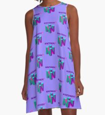 N64 Aesthetic A-Line Dress