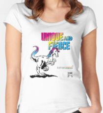 Unique and Fierce Women's Fitted Scoop T-Shirt