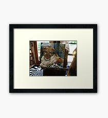 CHARLOTTE,   or   GIRL WITH APPLE Framed Print