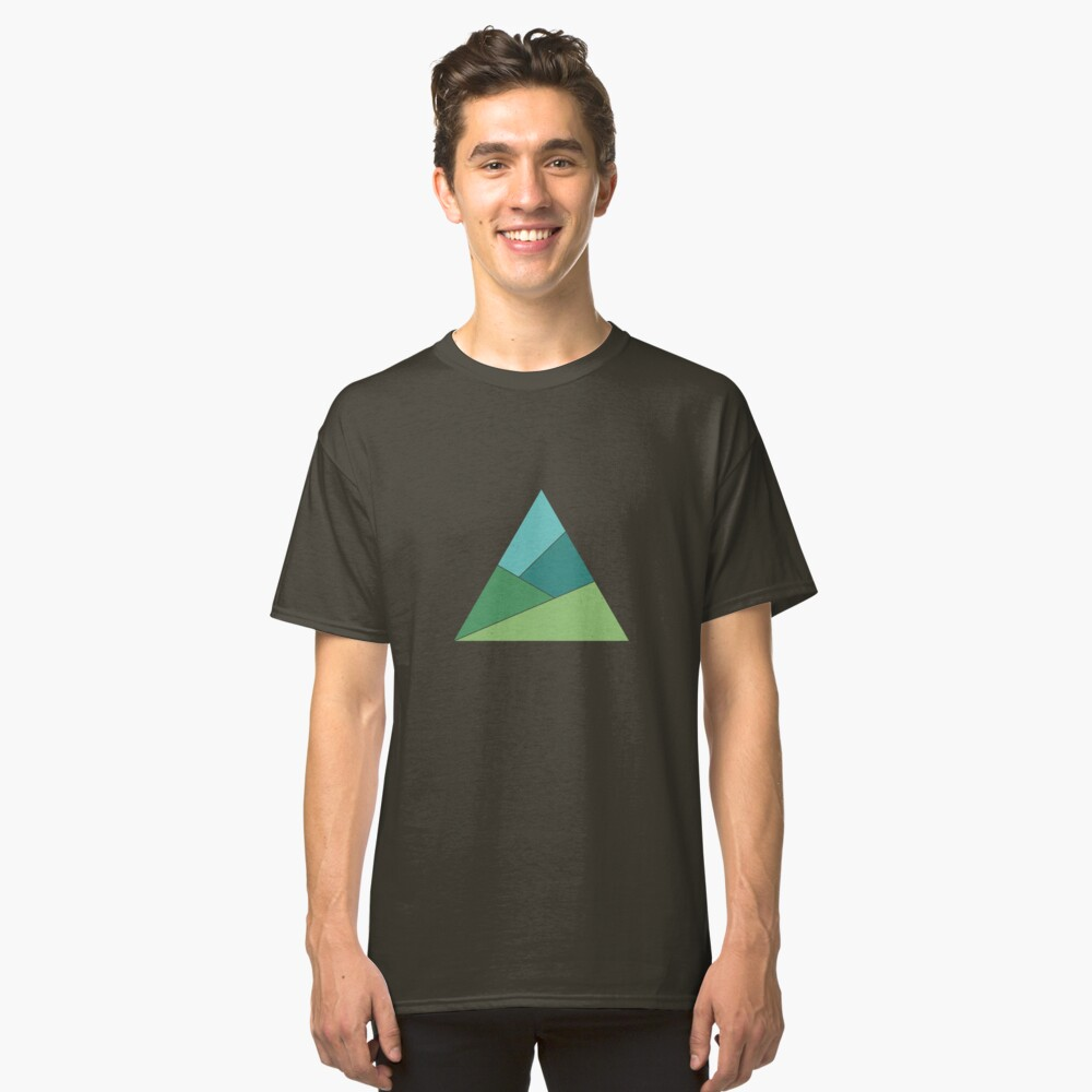 Triangle Mountains Classic T-Shirt Front