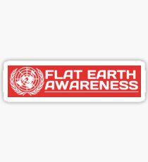 Flat Earth Designs  Flat Earth Awareness RED Sticker