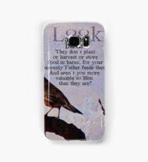 Matthew 6:26 scripture Samsung Galaxy Case/Skin