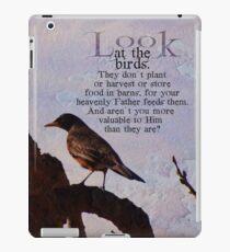 Matthew 6:26 scripture iPad Case/Skin