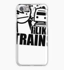 I Like Trains Art Design iPhone Case/Skin