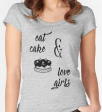 eat cake & love girls Women's Fitted Scoop T-Shirt