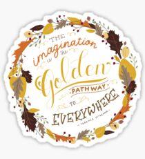 Golden Imagination Fall Quote Sticker