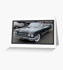 A 1960 Caddy Convertiable  Greeting Card