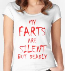 Silent But Deadly Women's Fitted Scoop T-Shirt