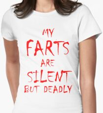 Silent But Deadly Women's Fitted T-Shirt
