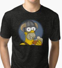 Homer Simpson - Sweet Roll Tri-blend T-Shirt