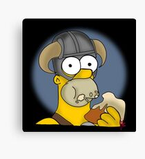 Homer Simpson - Sweet Roll Canvas Print