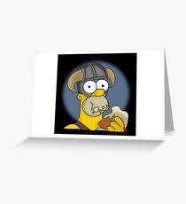 Homer Simpson - Sweet Roll Greeting Card