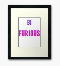 bi furious Framed Print