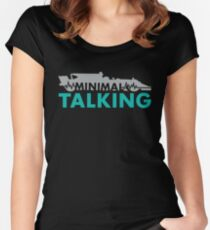 Minimal Talking Women's Fitted Scoop T-Shirt