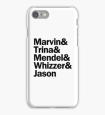 Falsettos Characters | Black iPhone Case/Skin