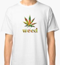 Marijuana, of the leaf, symbol, icon, drugs, undergrowth, drug, plant, sign,  Classic T-Shirt