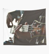 Playing Electric Guitar Wall Tapestry
