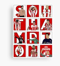 Southampton FC Players through the years  Canvas Print
