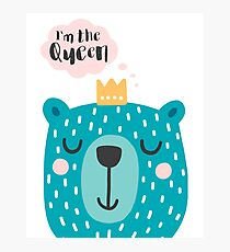 Cute Babies - I'm the queen Clear Photographic Print