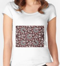 Checkered Petals  Women's Fitted Scoop T-Shirt