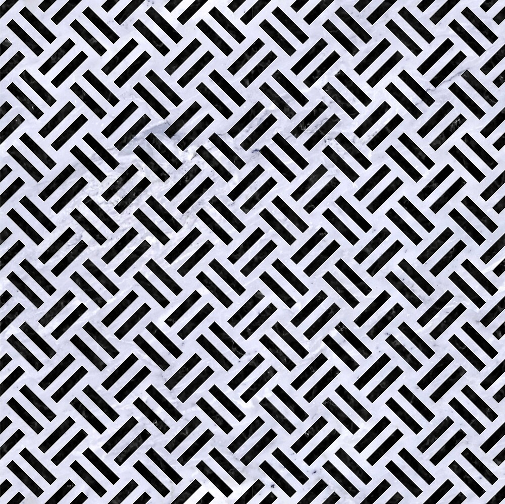 WOVEN2 BLACK MARBLE AND WHITE MARBLE (R) by johnhunternance