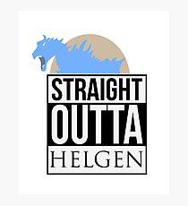 Straight Outta Helgen Photographic Print