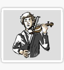 sherlock with violin Sticker