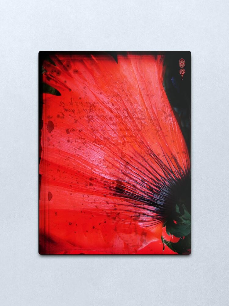 Alternate view of Book Flower Metal Print