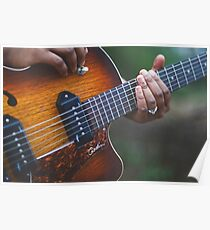 Electric Guitar Player Poster