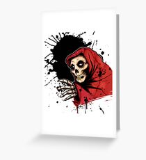 CRIMSON GHOST COLORED Greeting Card