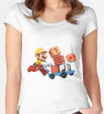 Brico mario Women's Fitted Scoop T-Shirt