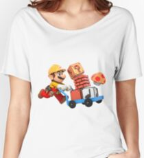 Brico mario Women's Relaxed Fit T-Shirt