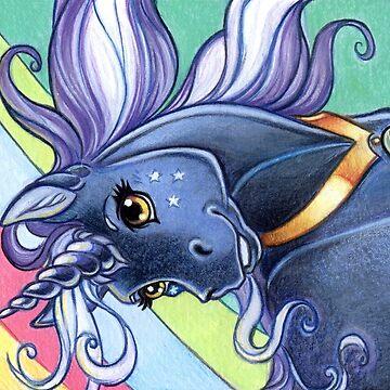 Midnight Unicorn Pony by cybercat