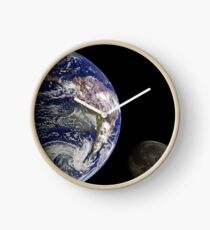 The Earth And Its Moon Clock