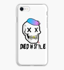 He Died in style  iPhone Case/Skin