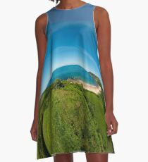 Kinnagoe Bay (as half a planet :-) A-Line Dress