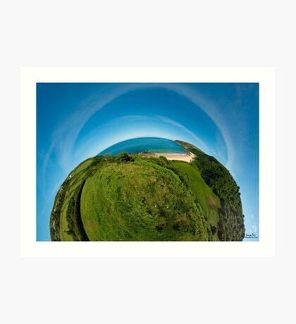 Kinnagoe Bay (as half a planet :-) Art Print
