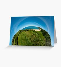 Kinnagoe Bay (as half a planet :-) Greeting Card