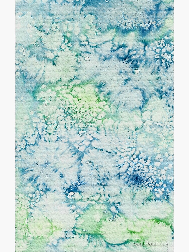 Blue, Green, Turquoise Abstract Watercolor Design  by sampalahnukart
