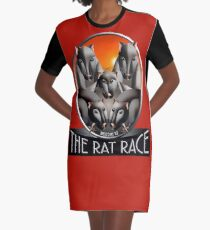 Welcome to the Rat Race - Just For Fun Graphic T-Shirt Dress