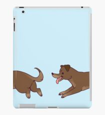 Dog chase iPad Case/Skin