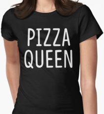 Pizza Queen Womens Fitted T-Shirt